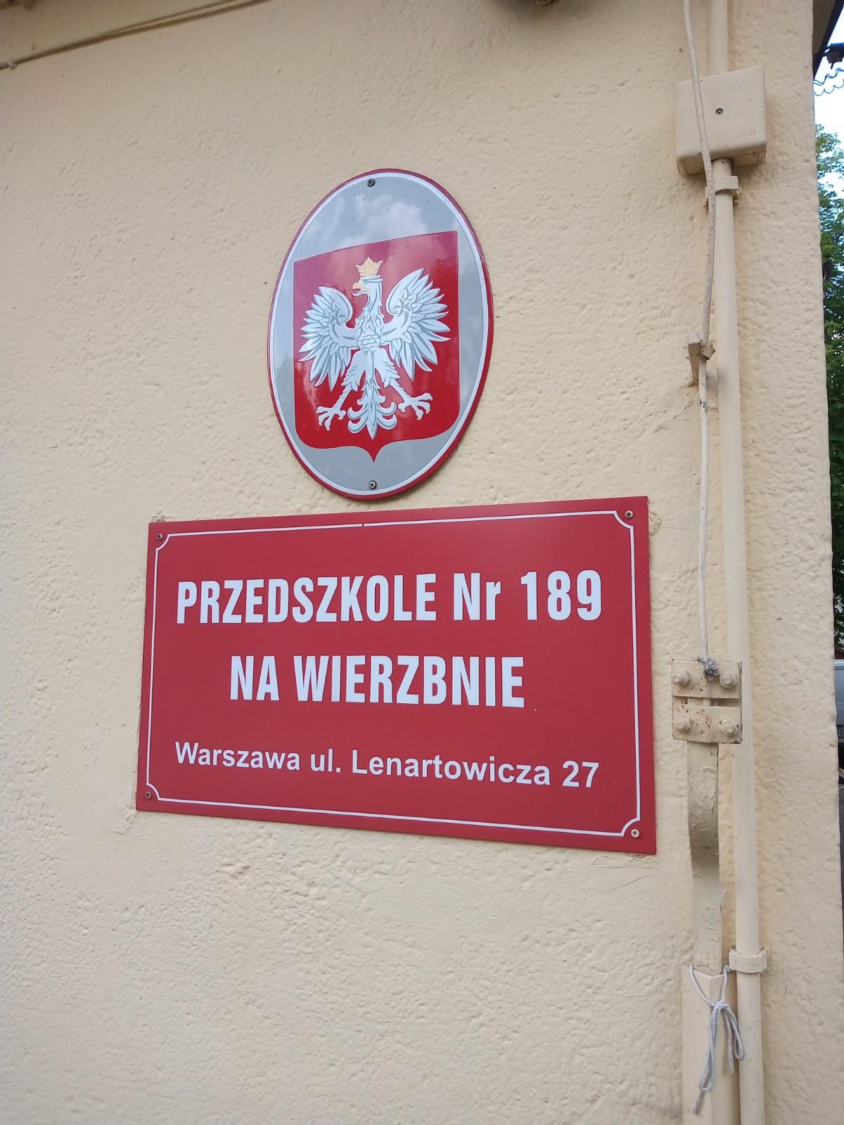 Przedszkole nr 189 na Wierzbnie